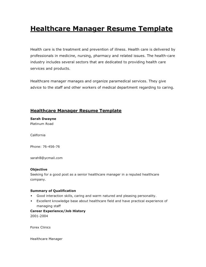 Pretentious Design Healthcare Resume Template 3 View All Samples ...