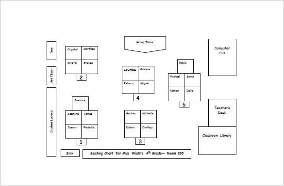 Classroom Seating Chart Template – 10+ Free Sample, Example ...