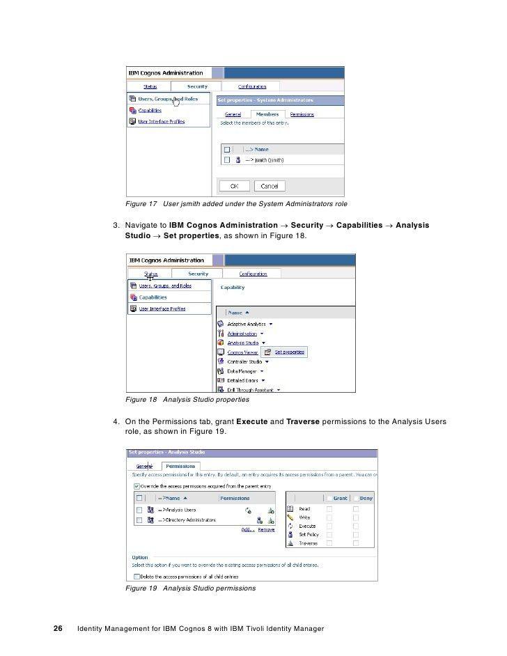 Identity management for ibm cognos 8 with ibm tivoli identity manager…