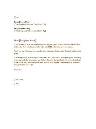 Professional Letter Template | custom-college-papers