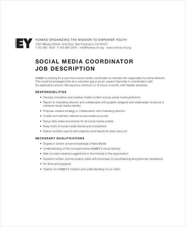 Social Media Manager Job Description. Evolution Community Manager ...