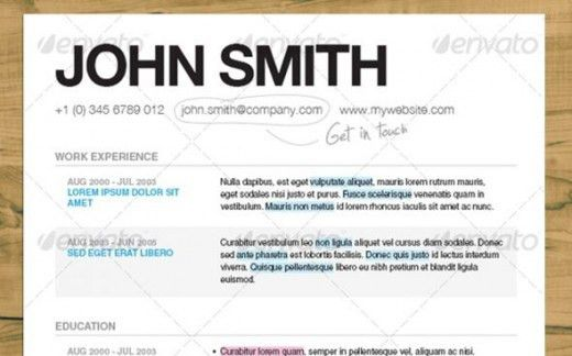 best font for resume calibri
