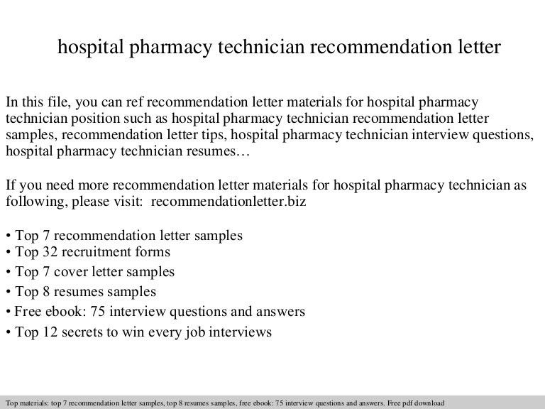 Resume Examples For Pharmacy Technician. Pharmacy Technician ...