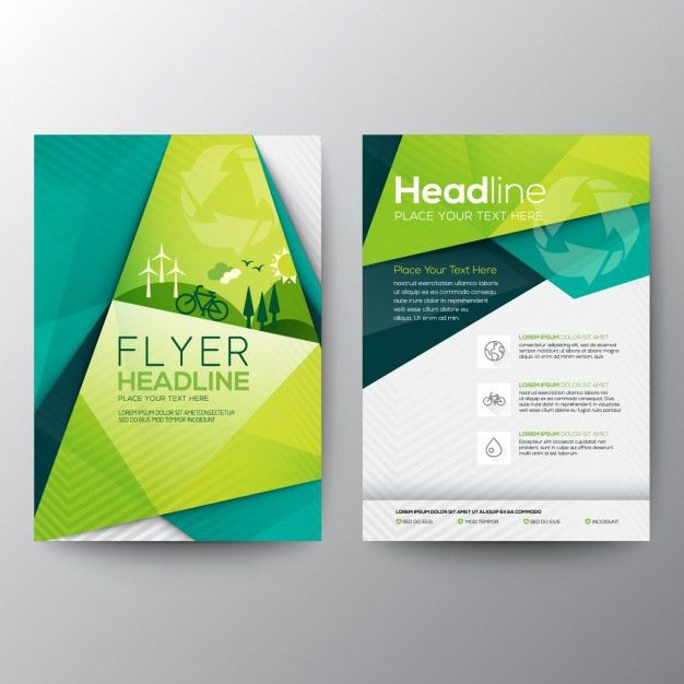 Ecology flyer template Vector | Free Download