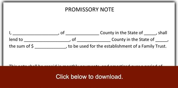 6 Promissory Note Templates - Excel PDF Formats