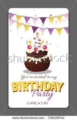 Set Birthday Greeting Cards Design Stock Vector 431651575 ...