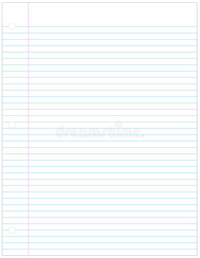 Lined Paper Stock Image - Image: 4894971