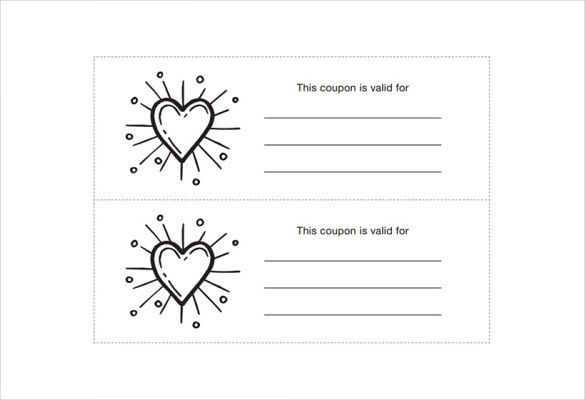 Homemade Coupon Template – 10+ Free PDF Format Download   Free ...