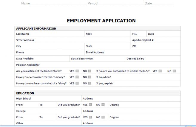 7 Truck Driver Employment Application Form Template Job Duties dot ...
