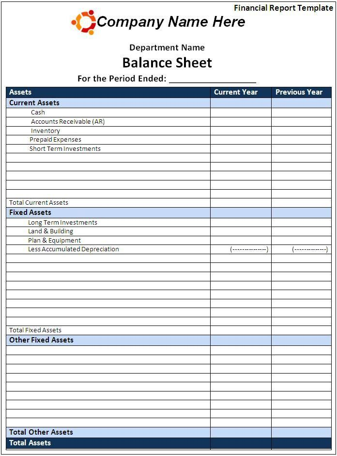 Financial Report Template. Financial Analysis Report Template Word ...