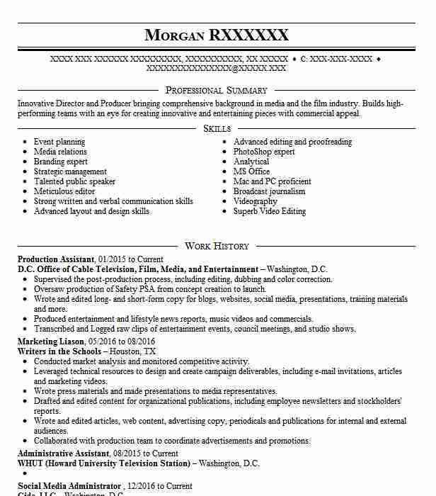 Media & Entertainment Resume Templates to Impress Any Employer ...