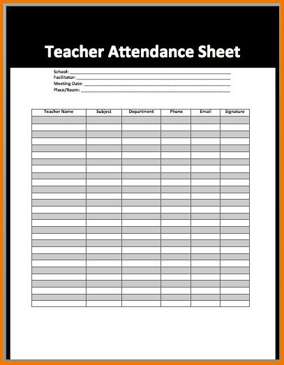 3+ printable attendance sheet | Expense Report