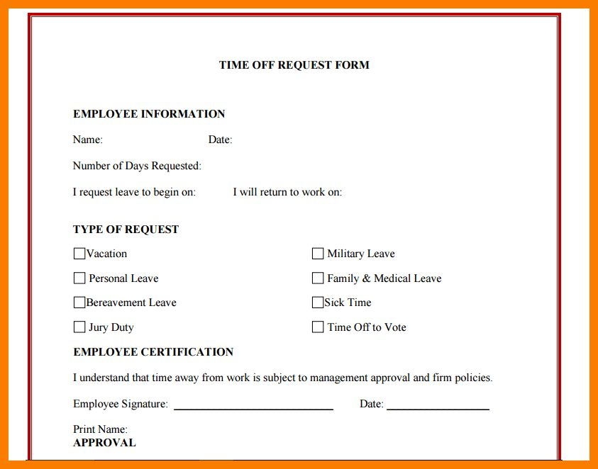 8+ sick leave forms template | park-attendant