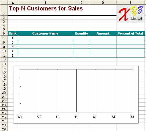 Free Excel Report Template - Monthly Sales 5