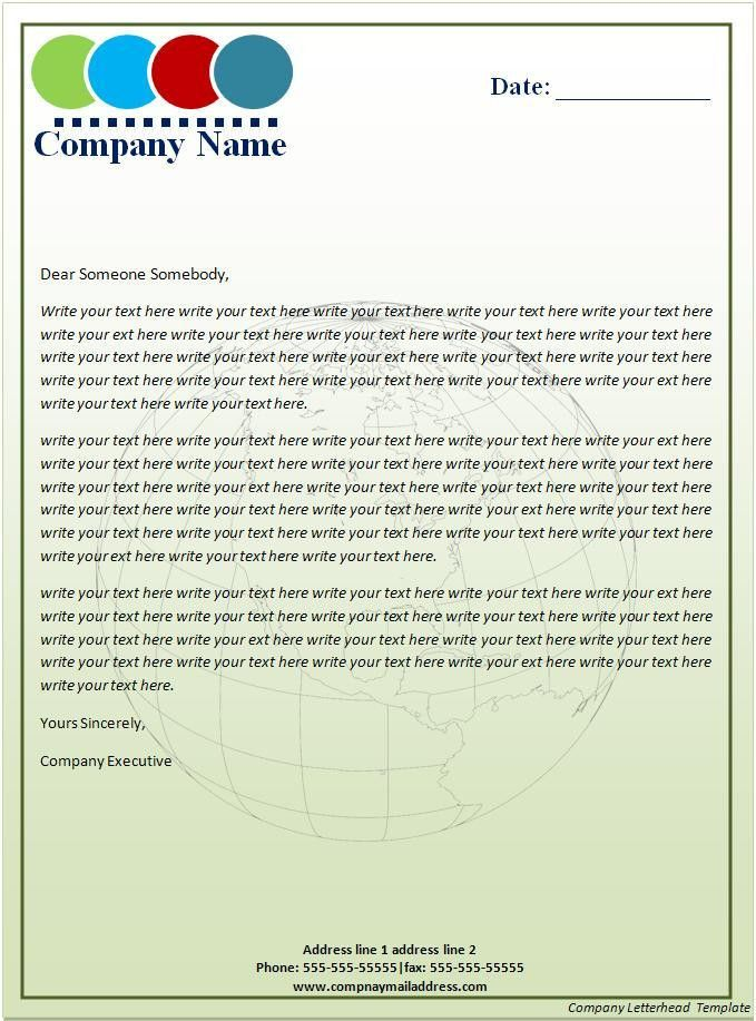 Company Letterhead Template - Best Word Templates