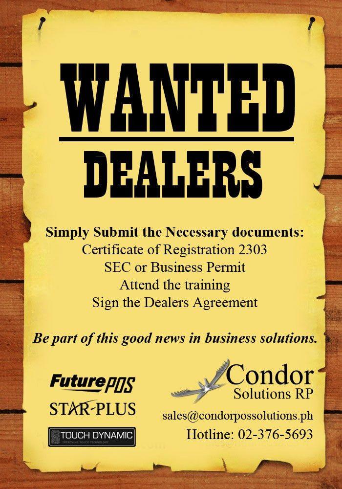 Dealers   Condor POS Solutions RP Inc