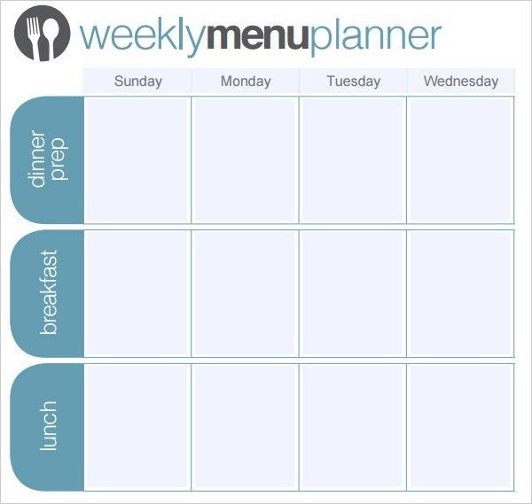 Menu Planner Template – 18+ Free Word, PSD, PDF, EPS, InDesign ...