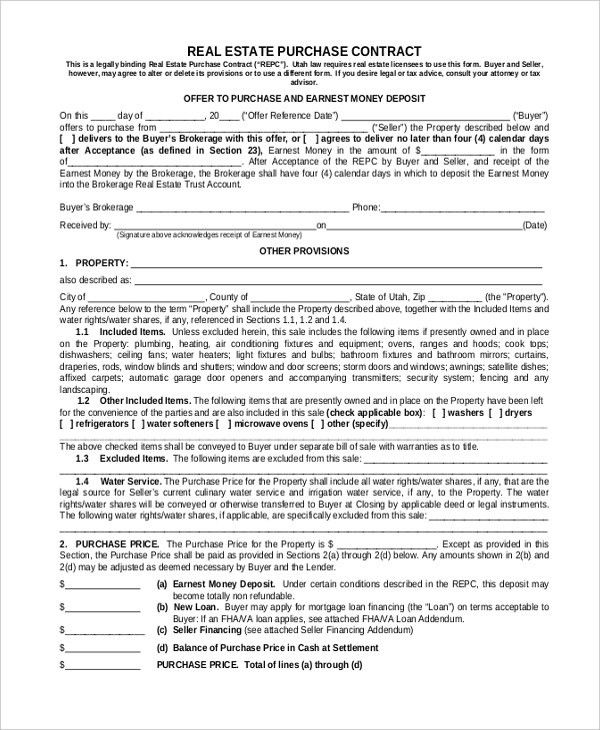 Sample Purchase Contract Form - 7+ Free Documents in PDF, Word