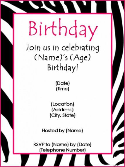 Birthday Party Invitation Templates For You | THEWHIPPER.COM