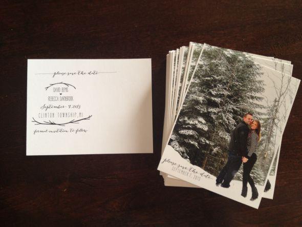 DIY Postcard Save The Date | Weddingbee Photo Gallery
