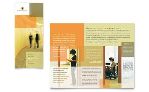 Human Resources - Tri Fold Brochure Templates - Word & Publisher