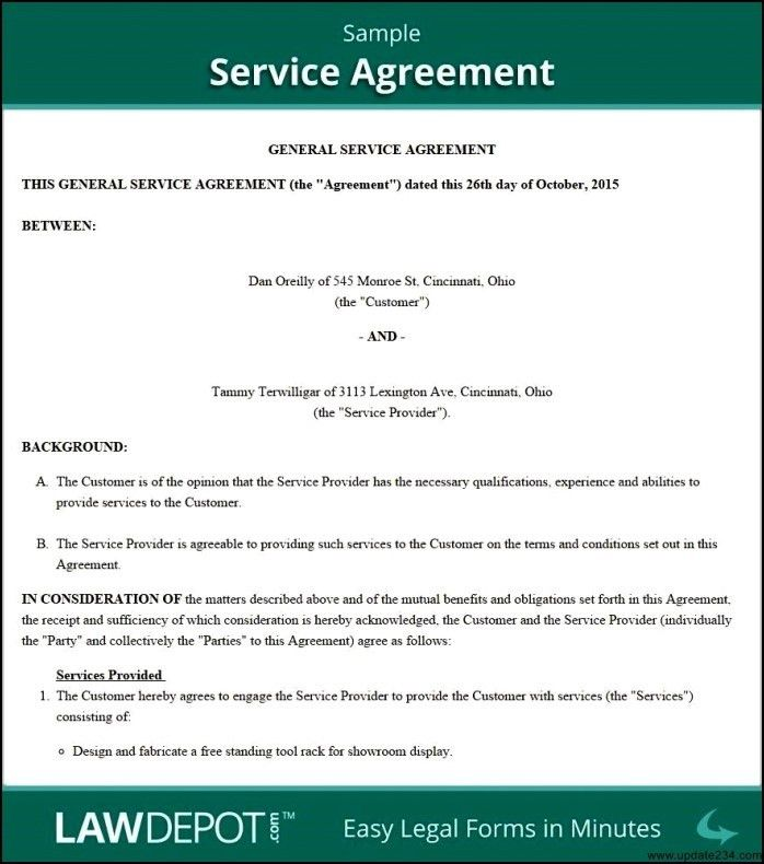 Information Technology Service Level Agreement Template - Template ...