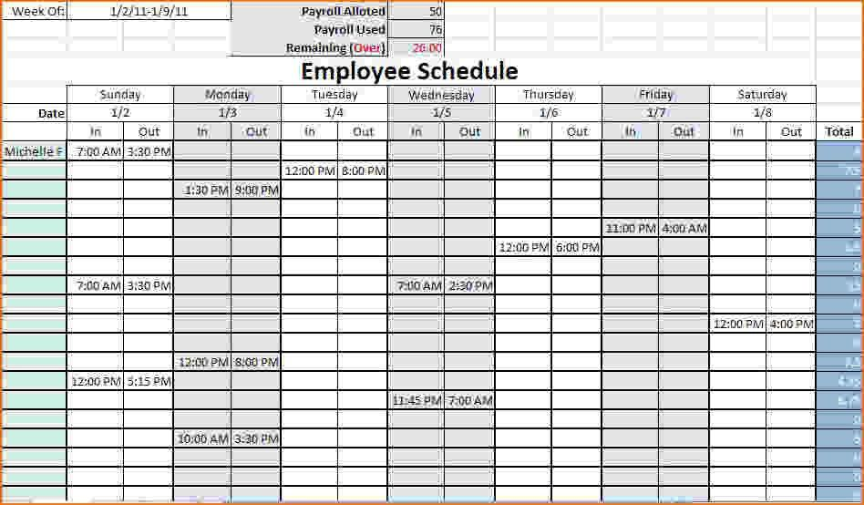 4+ work schedule templates | teknoswitch