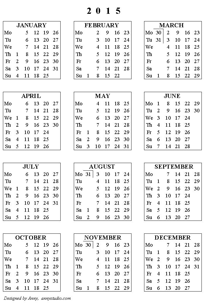 Free Printable Calendars and Planners 2018, 2019, 2020