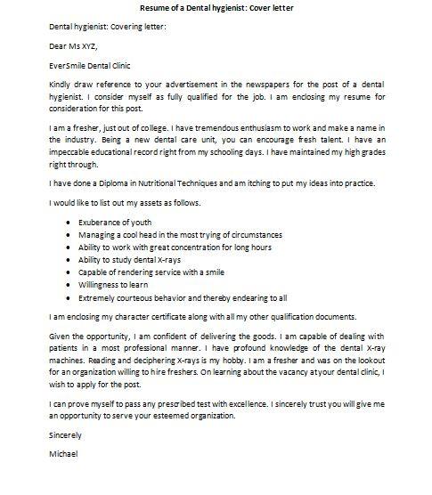 dental assistant cover letter ithacaforwardorg. dental hygienist ...