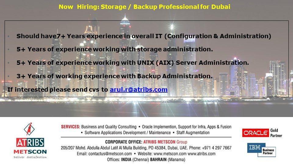 Storage admin (1) « ATRIBS - Career Page