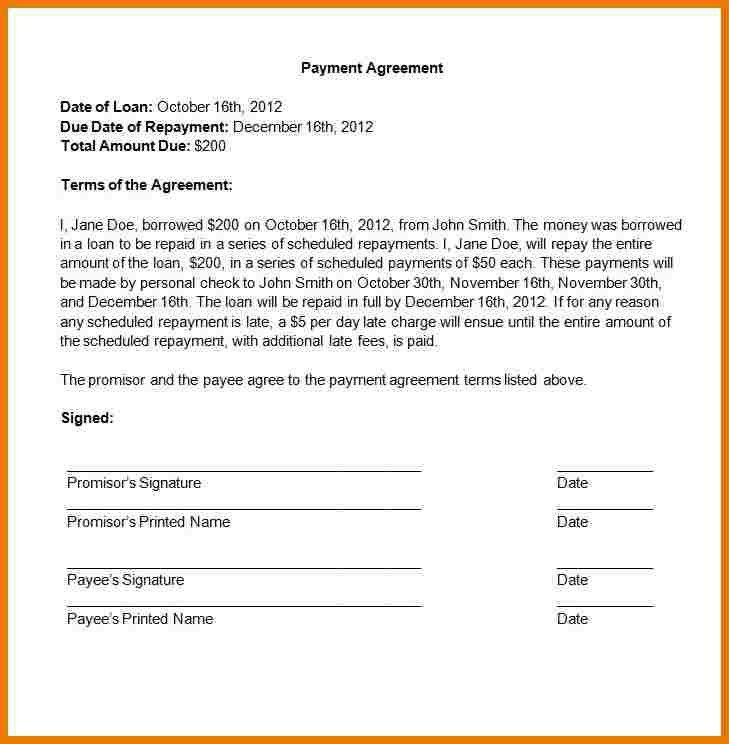 7+ payment agreement contract | assistant cover letter