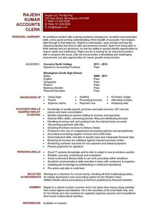 Entry Level Accounting Resume | Template Design