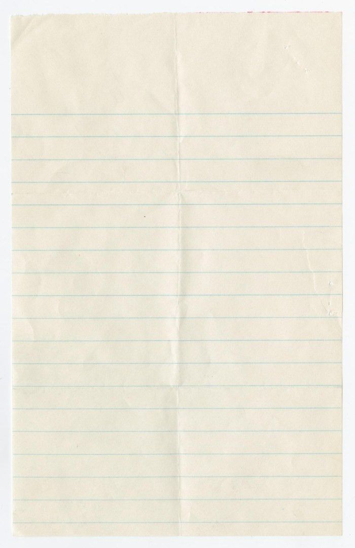 Blank Piece of Lined Paper] - The Portal to Texas History
