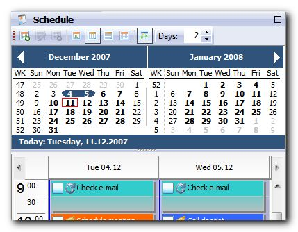 Free PIM Software - Agenda At Once - Organizer and To-Do List Freeware