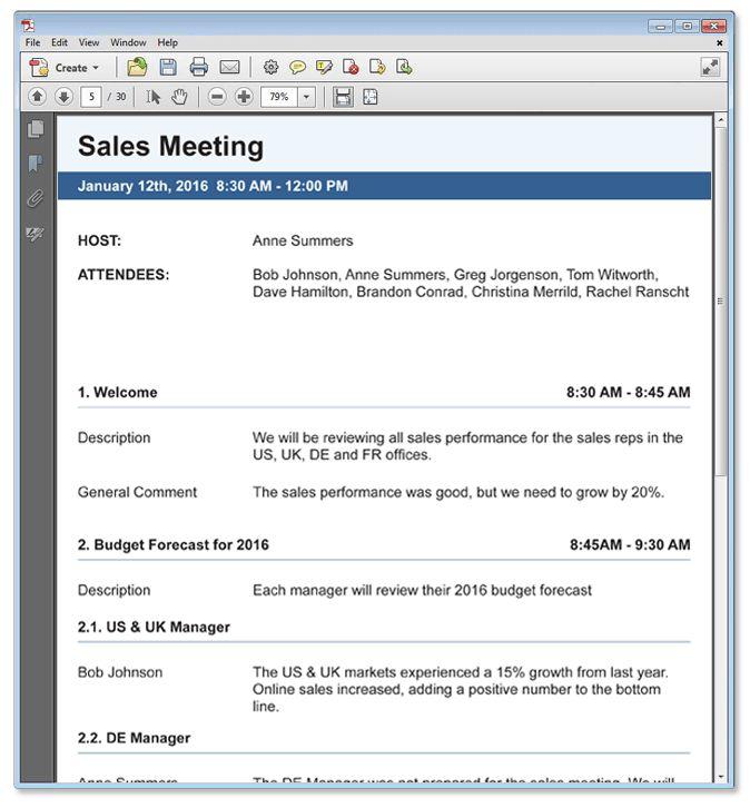 Meeting Minutes