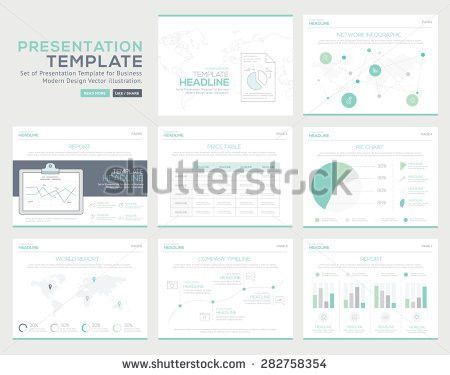 Templates Business Reports Infographic Set Stock Vector 290163563 ...
