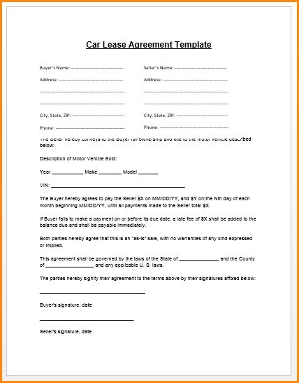 Car Loan Contract Template Loan Agreement Template Microsoft Word