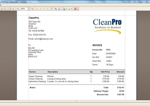 Cleaning Invoice Template Uk | invoice sample template
