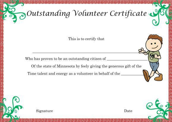 Download Volunteer Certificates the Right Way (19 Free Word ...