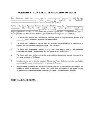 Virginia Residential Lease Forms | Legal Forms and Business ...