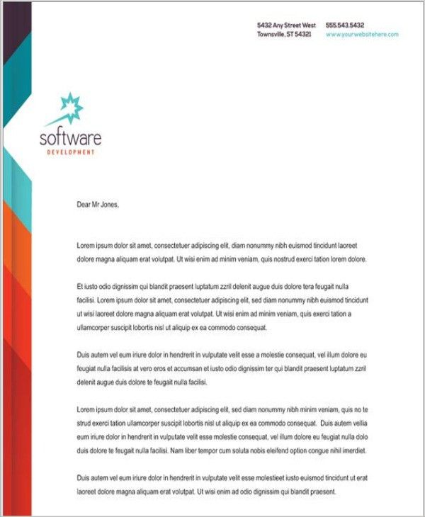 Company Letterhead. Professional Company Letterhead Template In ...