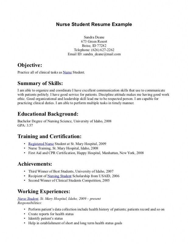 Nursing Resume Template. Certified Emergency Nurse Experienced Mid ...