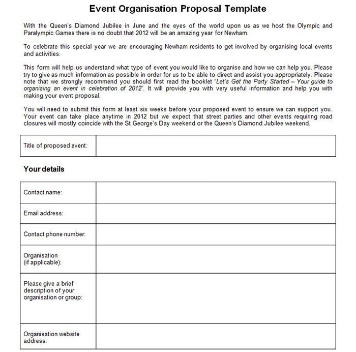 Event Proposal Template. 4+ Events Proposal Template | Bussines ...