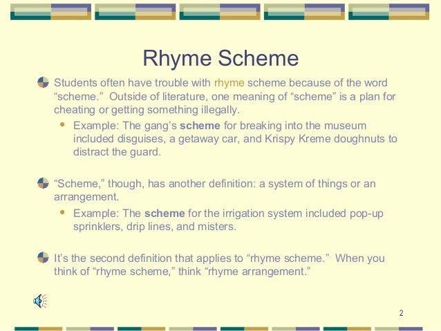 Rhyme scheme, rhythm, and meter final