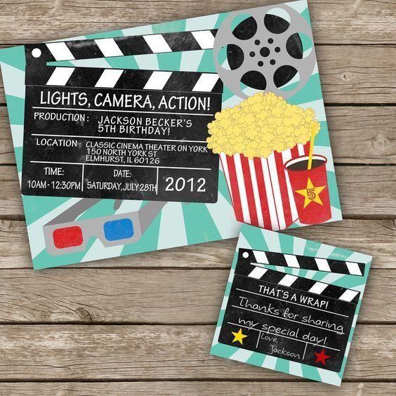 Movie theme party Printable/DIY Movie Night Invitation by ...