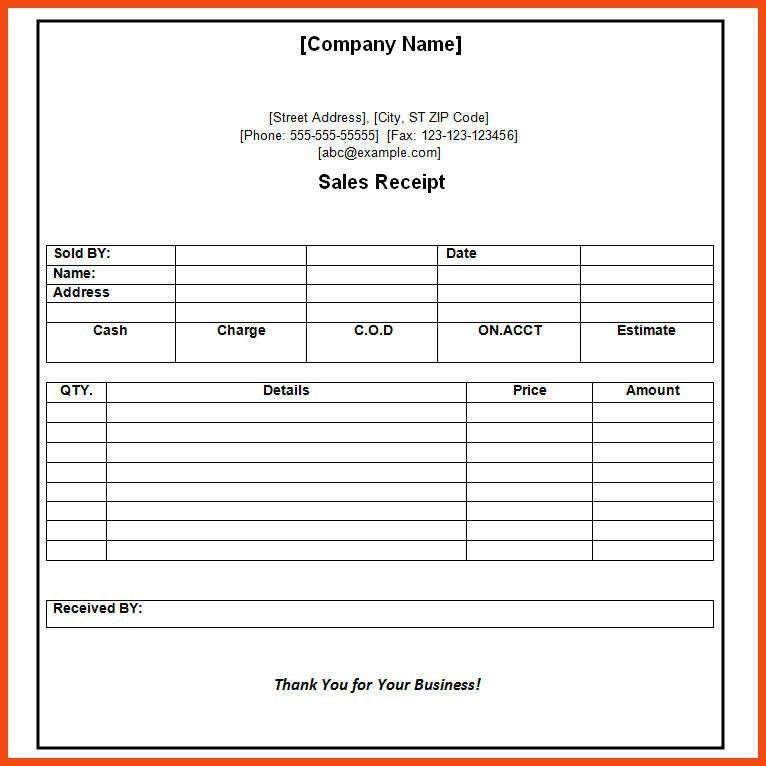 payment receipt template | program format