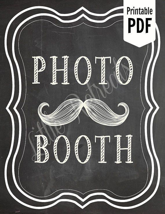 DIY. PRINTABLE PDF. Photo Booth Sign. Photo Booth Prop. Photobooth ...