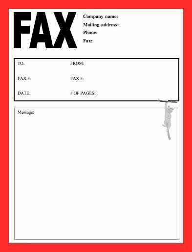 Fax Cover Template Free. fax cover sheet fax cover sheet to print ...