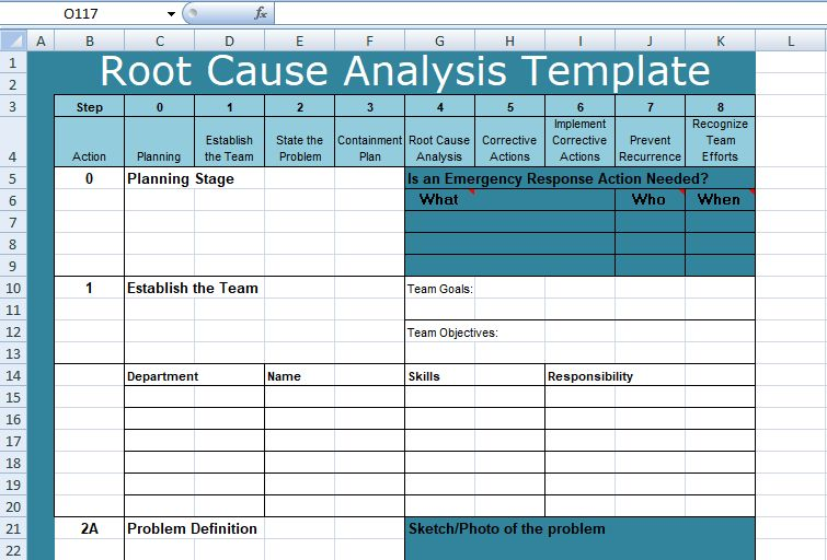Download Root Cause Analysis Templates - Project Management Excel ...