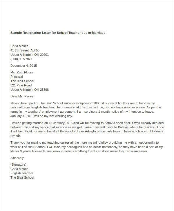 Resignation Letter with Reason Template - 7+ Free Word, PDF Format ...